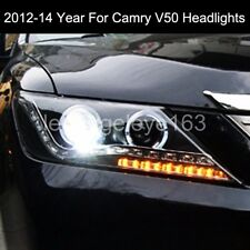 For Camry V50 Aurion LED angel eyes Headlights Front Lamps 2012 to 2014 year PW