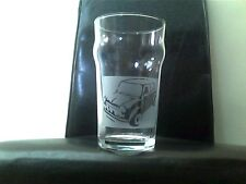 Classic Mini Car Personalised Etched Engraved Beer Pint Glass