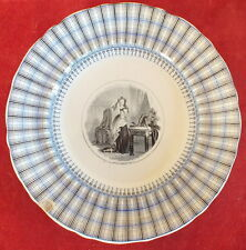 ASSIETTE PARLANTE FAIENCE VIEILLARD JOHNSTON BORDEAUX  LA TOILETTE