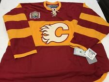 NEW W/TAGS REEBOK RARE CALGARY FLAMES MEN XXL W/ 2014 HERITAGE CLASSIC PATCH