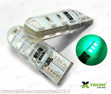 2pcs 6smd 5w Jelly T10 Green Parking LED for Yamaha FZ S