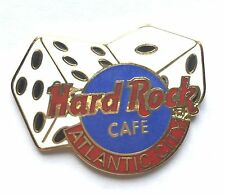 Hard Rock Cafe Pin Badge Atlantic City Gambling Casino Dice