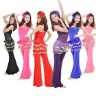 Attractive 3 Rows Coins Belly Dance Chiffon Hip Skirt Scarf Wrap Belt Newest