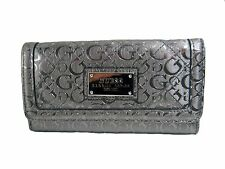 GUESS Women's Burbank SLG Trifold Clutch Pewter Wallet New NWT
