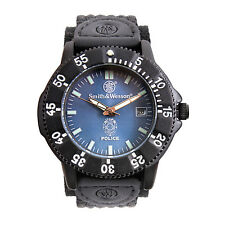 Police Watch Black Nylon Band Blue Face Water Resistant Smith & Wesson 4312