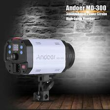 Andoer MD-300 300WS GN58 Studio Photo Strobe Flash with 50W Modeling Lamp C4I9