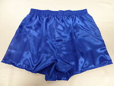 Royal Blue Satin Boxers in Medium