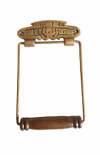 VINTAGE STYLE  NOTTINGHILL FIXTURE Toilet Roll Holder Solid Brass Antique Finish