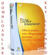 Office 2007 for 3 user LIFETIME LICENCE 9 programs inc Word Excel Outlook etc