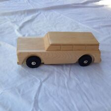 Handcrafted Wooden Toy Car Truck Station Wagon