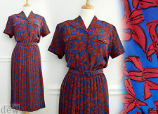1940's vintage TEA DRESS ww2 LAND GIRL wartime LILY PRINT eastex 18 20 TALL