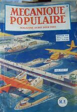 REVUE MECANIQUE POPULAIRE N° 008 AUTOMOBILE AVIATION PECHE PHOTOGRAPHIE 1947