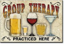 "2"" X 3"" GROUP THERAPY PRACTICED HERE BEER & WINE REFRIGERATOR MAGNET NEW"