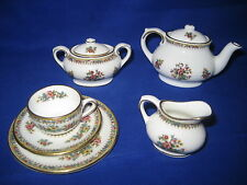 "Coalport ""Ming Rose"" Miniature  Tea Set"