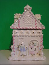 LENOX GINGERBREAD HOUSE COOKIE JAR New in Box with COA