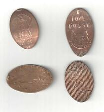 4 VINTAGE NUDE WOMAN LADY ELONGATED PRESSED PENNY LINCOLN CENT STRIP CLUB TOKENS