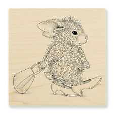 HOUSE MOUSE RUBBER STAMPS HAPPY HOPPERS DIVA HOPPER NEW WOOD STAMP