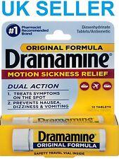 Dramamine movimiento contra los comprimidos de viaje antiemético coche/avión/Mar náuseas 12