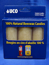 UCO 12 Hour Beeswax Candle 3-Pack for Candle Lantern Camping Tactical  NEW