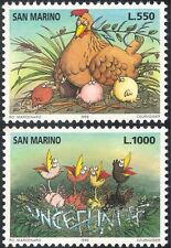 San Marino 1996 Chickens/UNICEF 50th/UN/Birds/Nature/Animation 2v set (n43357)