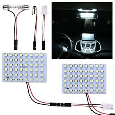 2X White Car Interior Map 48 SMD LED Bulb Lamp Light Panel T10 Dome BA9S Adapter