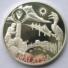 Malaysia 1987 20th Anniversary of ASEAN 1oz Silver Medal Coin,Proof