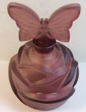 Fine Vintage French Purple Glass Perfume Bottle with Butterfly Stopper