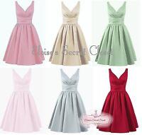 BRIDGET 50's Satin Bridesmaid Wedding Knee Length Dress UK 6 -18 Various Colours