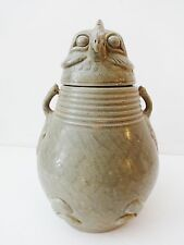 Superb Song Dynasty Style Celadon Vase shape of a Rooster