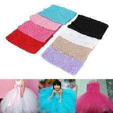 6'' Girls Baby Elastic Crochet Hollow Tube Waistband Headband Tops Hair Band