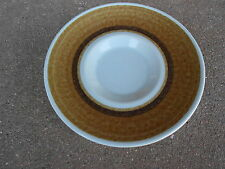 "Franciscan POTTERY NUT TREE  5 5/8"" SAUCER Brown Aqua Blue  USA"