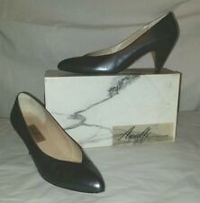 "Classy AMALFI ""Olivia"" Size 10AA (Narrow) Heel Pumps Shoes Charcoal Luster Calf"