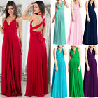 Women Long Maxi Evening Bridesmaid Formal Multi Way Prom Party Ball Gown Dress