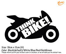 THINK BIKE!Reflective Warnning Car Stickers  Decals Best Gift-