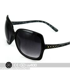 Oversized Women's Black Leopard Studded Sunglasses Hot Style NEW Fashion S095