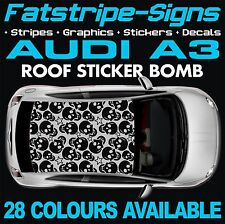 AUDI A3 GRAPHICS ROOF STICKER BOMB ROOF CAR GRAPHICS DECALS STICKERS 1.6 SKULL