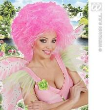 Neon Pink Afro Peluca pantomima de hadas Madre de Dios Fancy Dress
