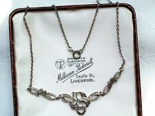 VINTAGE JEWELLERY STUNNING SILVER TONE REAL MARCASITE NECKLACE