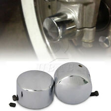 Chrome Front Axle Covers for Harley Dyna Softail Sportster V-Rod Electra Glide