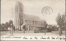 London - Cricklewood - St. Gabriel's Church local publisher (Mussert) & pmk 1908
