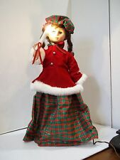 "Vintage Motionette Illuminated Animated Display Arts 24""  Christmas Girl"