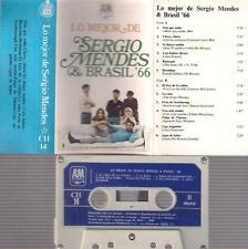 SERGIO MENDES Lo mejor  Brasil 66 DIFFICULT SPANISH CASSETTE PAPER LABEL SPAIN