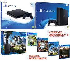 Sony PLAYSTATION 4 PS4 500GB,1TB,PRO,FIFA,GTA,HORIZON,RE7,Nuova,Garanzia,PAYPAL