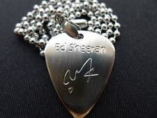 Ed Sheeran Hand carving Stainless Steel Guitar Pick Necklace