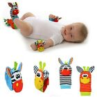Kids Infant Baby Toddler Cute Animal Hand Wrist Bells Foot Sock Rattle Soft Toys