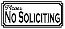 Please NO SOLICITING Vinyl Decal Sticker Window Wall Door Home Business Security