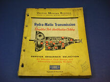 1958 United Motors Service GMC Hydra-Matic Transmission Parts Catalog #37-A-100