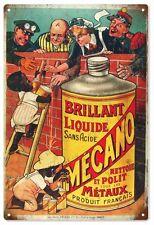 Brillant Liquide Mecano Product of Francais Advertisement Sign