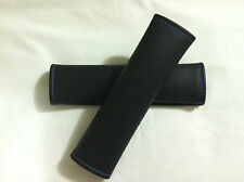 Black/Blue Trim Stich- Shoulder Pads Car/Truck/Rv Seat Belt Cover Hardness Strap
