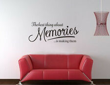 Wall Quote Art Decal Vinyl Sticker Removable Decor DIY make memories true